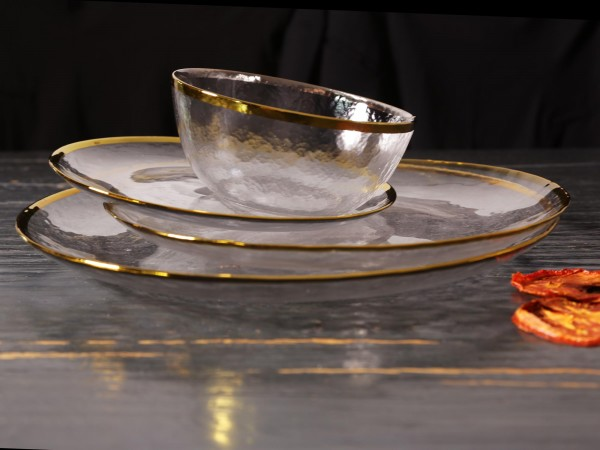 Glasgeschirr Set Golden Chic