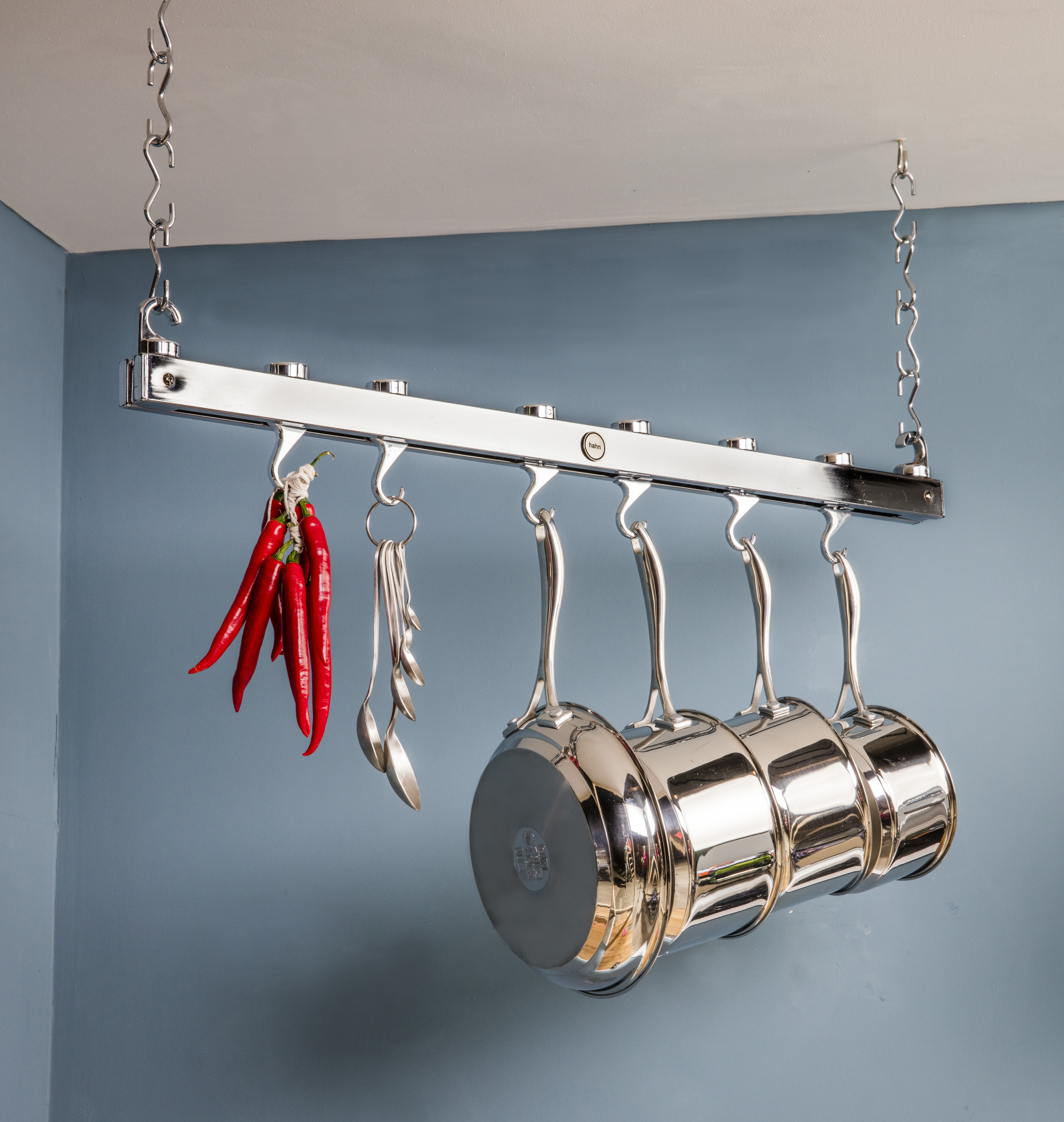 Bild Aufhängung für Töpfe und Pfannen länglich Hahn Kitchenware chrome